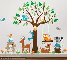 Hey, I found this really awesome Etsy listing at https://www.etsy.com/listing/129272316/children-wall-decal-animal-wall-decal