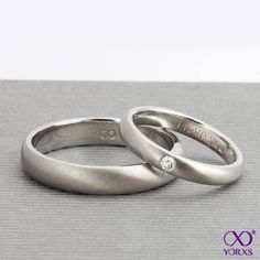 The wedding rings customized at #yorxs are as individual as you and your groom are! #Trauringe #Hochzeit