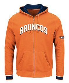 Denver Broncos Zip-Up Hoodie - Men's Big & Tall Denver Broncos Sweatshirt, Denver Broncos Football, Mens Big And Tall, Big & Tall, Full Zip Hoodie, Hoodies, Sweatshirts, Zip Ups, Hooded Jacket
