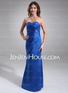This one...   Bridesmaid Dresses - $97.99 - Sheath Sweetheart Floor-Length Satin Bridesmaid Dresses With Ruffle (007001881) http://jenjenhouse.com/Sheath-Sweetheart-Floor-length-Satin-Bridesmaid-Dresses-With-Ruffle-007001881-g1881