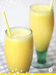 www.feiertaeglich.de | Ananas Ingwer Smoothie Rezept #feiertaeglich #smoothie