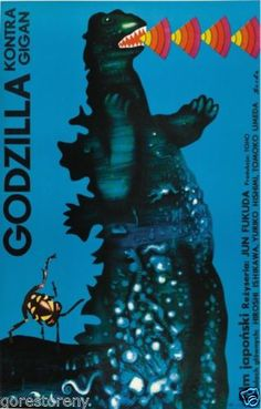 Godzilla Movie Poster Gojira Monster Gigan Czech Polish RARE Art | eBay