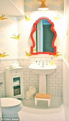 Daydream (Sunshine) Powder Room in Craig and Mary Romney's House