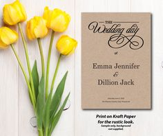 A personal favorite from my Etsy shop https://www.etsy.com/ca/listing/464719373/wedding-program-white-kraft-paper-rustic