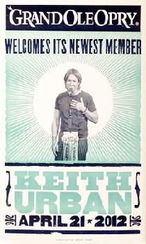 I'm a sucker for Keith Urban, Hatch Show Print, and the Grand Ole Opry.  Need this on my wall.