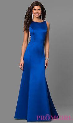 ASHLEYlauren V-Back Long Prom Dress