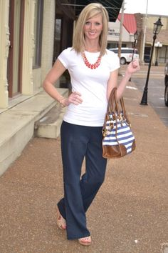The Day Off Linen Pants - Navy: Abella Boutique - another outfit packed for amsterdam