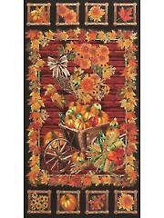 "Seasonal Fabric Panels - Golden Harvest Panel - 24"" x 42"""