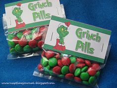 Grinch Pills - great neighbor gift or classmate gift.