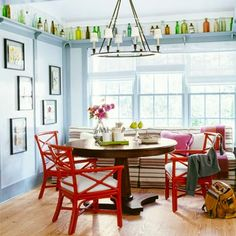 NYC interior designer Steven Gambrel envisioned this cheery eating space; we show you how to get the look. | Photo: Tria Givoan | thisoldhouse.com