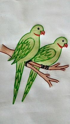 ideas drawing for kids ideas creative for 2019 Pencil Drawings Of Flowers, Art Drawings Sketches Simple, Bird Drawings, Pencil Art Drawings, Animal Drawings, Cute Drawings, Tree Drawing Simple, Basic Drawing, Drawing Lessons