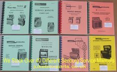 A selection of Seeburg Service Manuals that we stock at www.jukeboxparts.co.uk