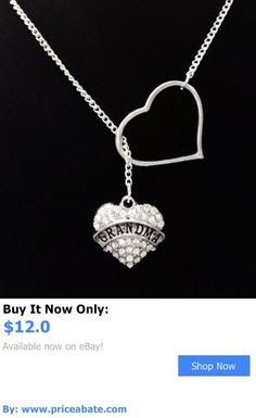 Valentine Gifts: Heart Crystal Grandma Nana Valentines Day Gift Lariat Style Necklace BUY IT NOW ONLY: $12.0 #priceabateValentineGifts OR #priceabate
