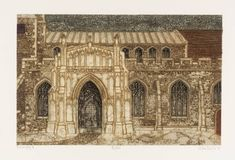 Valerie Thornton(British, Boxford Church, Suffolk 1974 etching and aquatint on paper Image Boards, Printmaking, Barcelona Cathedral, British, Etchings, Artwork, Buildings, Travel, Paintings