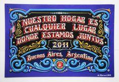 Gustavo Ferrari Hand Painted Signs, Sign Design, Tango, Wood Signs, Ferrari, Mandala, Lettering, Writing, Country
