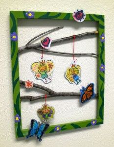 fairy garden craft for the wall