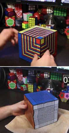 One of the hardest Rubik's Cubes in the world -- a 17x17x17 cube. Gadgets And Gizmos, Technology Gadgets, Tech Gadgets, Cool Gadgets, Cube Puzzle, Cool Inventions, Lego Rubiks Cube, Trippy, Rubik's Cube