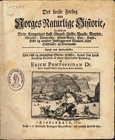 Tittelbladet fra Det første Forsøg paa Norges Naturlige Historie (1752) av Erik Pontoppidan. Verket ble skrevet mens Pontoppidan var biskop i Bergen.