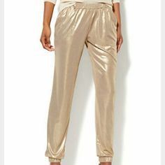NWT NY&C banded ankle gold soft pant XL BNWT perfect fit any occasion! Stretchy comfortable fit & they even have pockets :) New York & Company Pants Ankle & Cropped