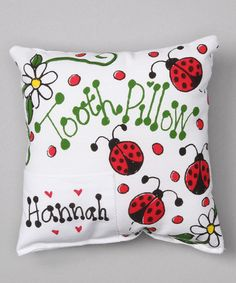 Take a look at this Ladybugs Personalized Tooth Pillow by Bunnies and Bows on #zulily today!