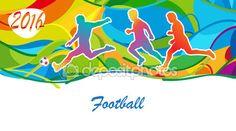 Olympics Football Summer abstract background. Sport card. Vector Illustration. Olympics Games. Rio 2016 football. — Stock Vector © sofiartmedia.gmail.com #119041000