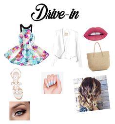 """Drive in date night"" by jenjengrant on Polyvore featuring beauty, Oscar de la Renta, Rebecca Taylor and Target"
