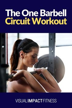 Here's a barbell workout for women using barbell exercises that use only one barbell. This circuit training workout will work the glutes and arms and full body. Barbell Workout For Women, Workout Plan For Women, Workout Women, Circuit Training Routines, Workout Circuit, Workout Plans, Barbell Exercises, High Intensity Interval Training, Workout Machines