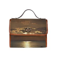 Awesome Sea Scene Waterproof Canvas Bag (All Over Print)