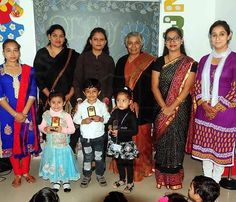 Winners of Display Your Talent 2015 posing with distinguished guests and judges #SMIPS #DisplayYourTalent #StMarysInfantPreSchool #st_marys_infant_pre_school_jammu #preschools_in_jammu