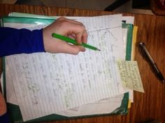 Writing Mini Lesson - peer editing blog post
