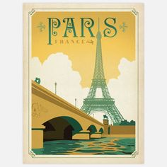 World Travel Paris 18x24 now featured on Fab. (Love this style of painting)