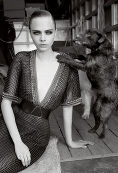 Cara Delevingne photographed by Glen Luchford for Vogue UK, November 2012 ('She's Eclectic').