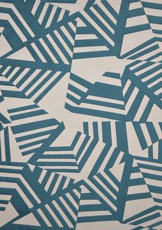 Tissu Arkane (Thevenon) triangle line chevron blue wall paper