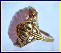 Image result for pink quartz cabochon ring
