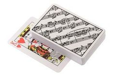 Sheet Music Playing Cards by Gift House. $2.98. Playing Cards, Sheetmusic design.