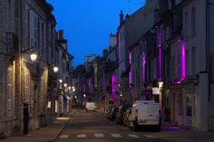 Street in Lorraine, France. Lighting products: iGuzzini illuminazione #iGuzzini #Light #Lighting #colors