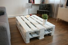 Living room table made from pallets
