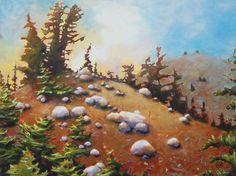 "Katya Coad, Almost Heaven (Mt. Lassen, CA), 40"" x 30"" - SOLD"