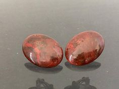 Vintage Jewelry Natural Bloodstone Clip on by wandajewelry2013
