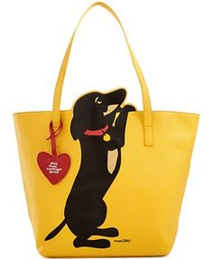 Cute dachshund graphics on a bright yellow background prove that dogs make everything better