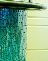 Our Mosaic Turquoise handcrafted tile can be custom cut to your design ideas!