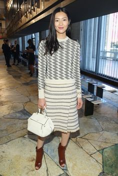 Liu Wen - Tory Burch Spring 2016 Front Row - September 15, 2015 #nyfw
