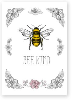 bee kind greeting cards nauvoo mercantile LDS Latter-day Saint Bee Drawing, Bee Painting, I Love Bees, Vintage Bee, Bee Cards, Cute Bee, Happy Paintings, Bee Design, Vintage Greeting Cards