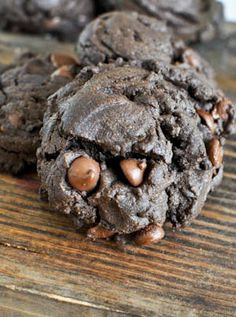 Triple Threat Chocolate Fudge Peanut Butter Cookies recipe. Such a delicious dessert!