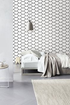 Geometric Scallop Pattern Self Adhesive Vinyl by Livettes on Etsy, $34.00