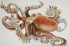 """Check out @fromthebowseat's art contest for middle school and high school students. The theme is """"Making Meaning out of Ocean Pollution."""" http://www.fromthebowseat.org/contest-2016.php #plasticpollution #oceanpollution #octopus"""