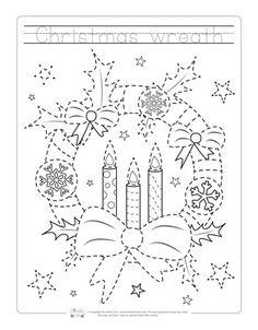 Christmas Tracing Worksheets Christmas Art Pinterest Christmas