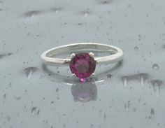 925 Red Ruby Ring/Sterling Silver/July by SouthernGemstones