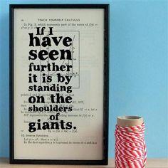 Wall Envy - Newton, 'Shoulders of giants.'
