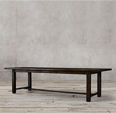 RH's 17th C. Spanish Monastery Rectangular Dining Table:Crafted with strong lines and a rustic design, this piece evokes the refectory tables found in 17th-century Spanish monasteries.
